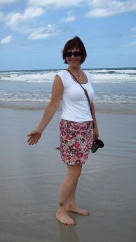 Working on my tan in sunny Daytona Beach