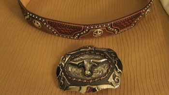 An addition to my collection of belts and buckles