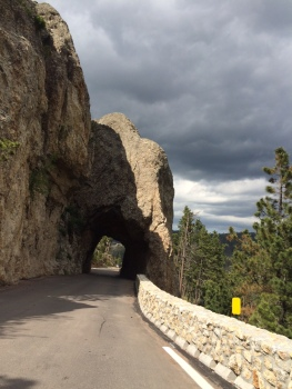 The routes in South Dakota included a number of single lane bridges carved out of the mountainside