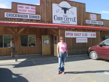 Dinner and show at the Cody Cattle Company before heading to the rodeo!