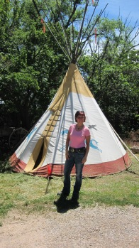 Tee-pee made by Cathy A. Smith for her daughter Jennifer Jesse to play in when she was young girl