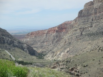 Big Horn National Forest - Approaching the canyon on Highway 14