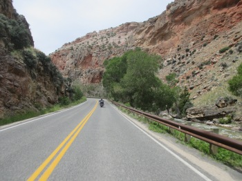 Big Horn National Forest, Wyoming - Riding through the canyon