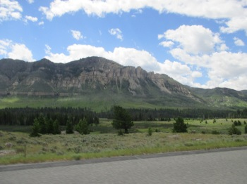 Shoshone National Forest on route to Beartooth Highway
