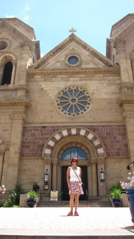 Outside the Cathedral Basilica of St. Francis of Assisi