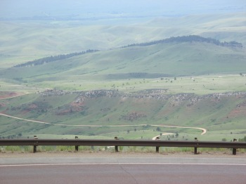 Entering the Big Horn National Forest in Wyoming - Highway 14
