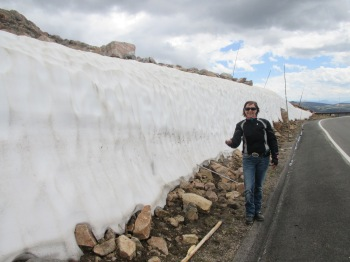 The top of Beartooth Highway still had a snow quite a bit of snow