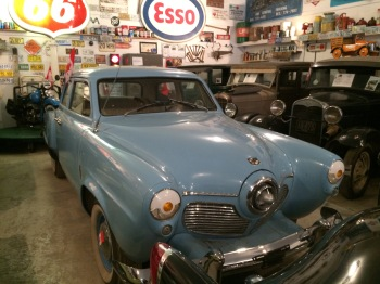 One of the many cars in a very fine collection at the Fort Nelson Museum.