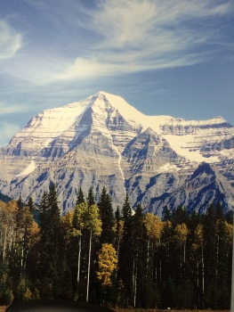 Mount Robson just outside of Jasper Park