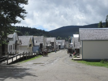 The main street in Barkerville