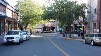 Downtown Nanaimo on Commercial Street