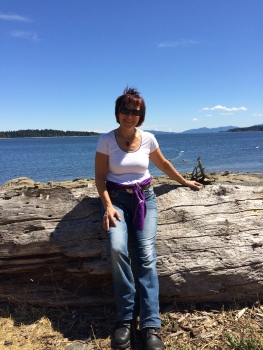 Enjoying time at Transfer Beach in Ladysmith, BC