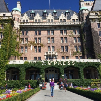 The Empress Hotel - one of the original historic buildings in Victoria BC and a Fairmont Classic