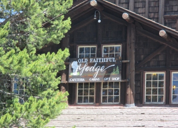 Old Faithful Lodge in Yellowstone Park - great ice cream store in this locations...then again every ice cream store is great!