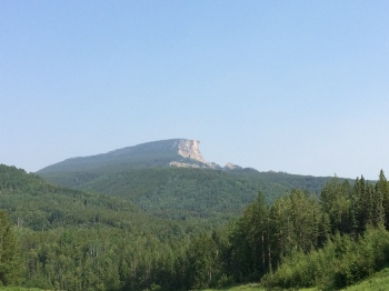 Indian Head Mountain north of Fort Nelson BC on my way to up the Historic Alaska Highway
