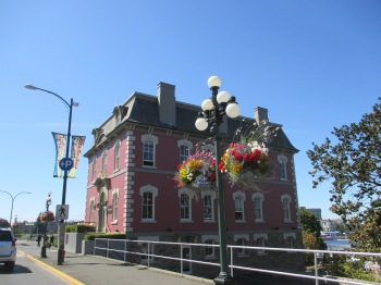 One of the many historical buildings located along the waterfront