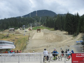 I stopped by to watch some of the mountain bike riders in Whistler - this is definitely a young persons sport!