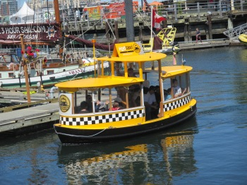 A local water taxi is an excellent way to get around the Inner Harbour while visiting Victoria