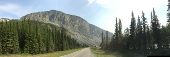 Folding Mountain close to Toad River, BC on the Historic Alaska Highway