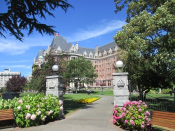 The entrance to the Empress Hotel