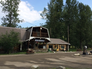 If travelling north you need to stop here! They make fresh homemade cinnamon buns here daily at the  Tetsa Outfitters at Mile 375 on the Historic Alaska Highway