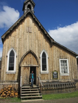 The local church in Barkerville - beautiful constructed building