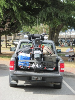 Interesting way to haul a motorcycle across the country