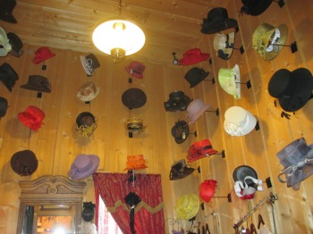 My friend Bridget Conboy would love it here...retro hats at tere finest!