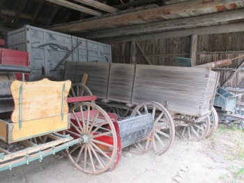 There were several carts and carriages on display