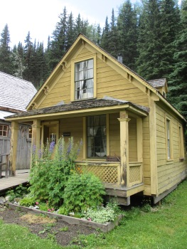 One of the many beautiful historic homes in Barkerville, BC