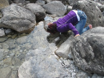 This is how to drink water from a mountain stream...slurp....ahhhh