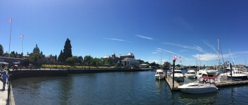 The Inner Harbour located in downtown  Victoria