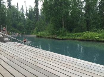 The Liard Hot Springs, one of the few natural springs in BC
