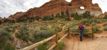 There are several arches that you can hike into - this is one of them.