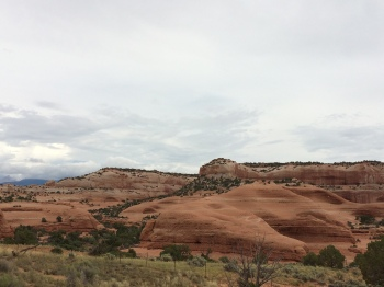 The wind and rain continue to smooth out the many rock formations that are found in Utah