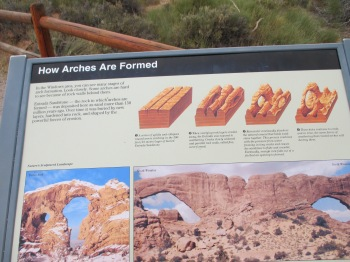 I'm note sure if you'll be able to read this, but it explains in more detail how the arches and rock formations are created