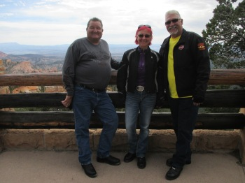 Tommy (left) and Richard (right) were from California and happened to be staying at the same hotel in Panquitch, Utah and as chance would have it we ended up running into each other over the course of the day while touring Bryce Canyon National Park - I hope you had a safe ride to Sturgis