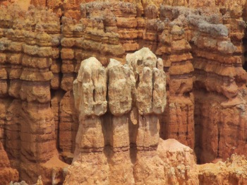The rock formations have been sculpted over 35 to 50 million years - a meer moment in time