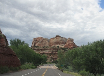 On the road in Capitol Reef National Park - if you are in Utah this is a must