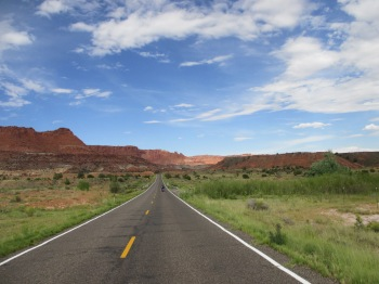 Riding through Capitol Reef National Park - simply amazing