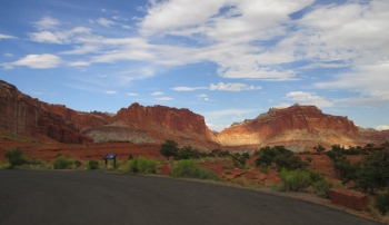 Capitol Reef National Park was incredible to ride through - it took my breath away!