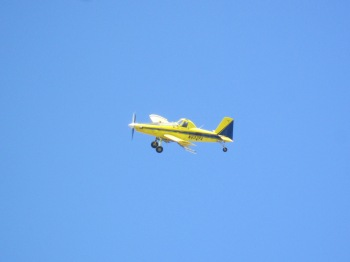 I saw this crop duster at work while stopped for a break
