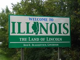 welcome to Illinois state sign